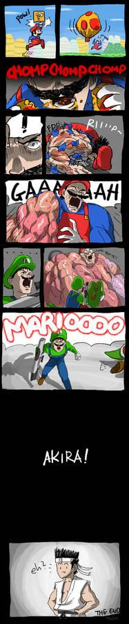Mario Eats Mega Mushroom