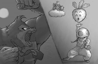 Donkey and Toad by torokun