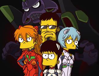 Simpsonsgelion by torokun