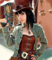 steampunk queen by tatsuya-shiro