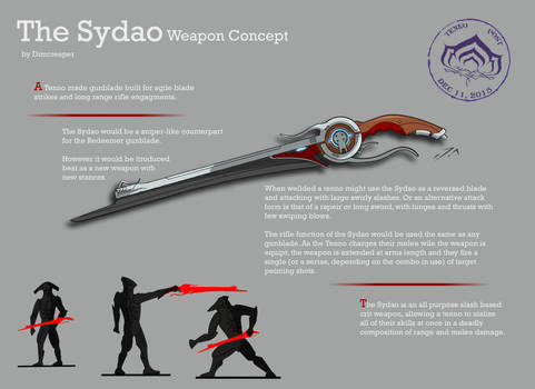 Warframe Weapon Concept: The Sydao