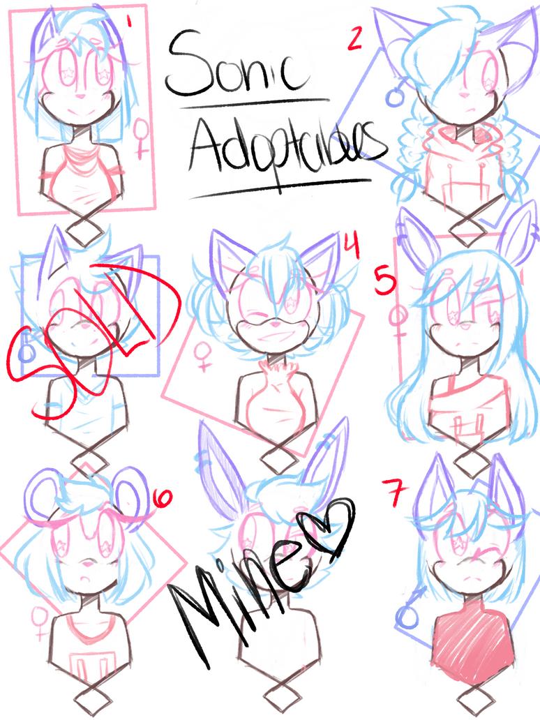 Sonic Adoptables by kaykayamy