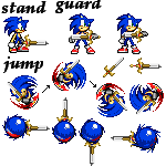 sonic and excalibur sprites by 64tre2