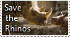 Save The Rhinos Stamp by TheMoonRaven