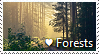 I Love Forests Stamp by TheMoonRaven