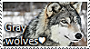 Grey Wolf Stamp by TheMoonRaven