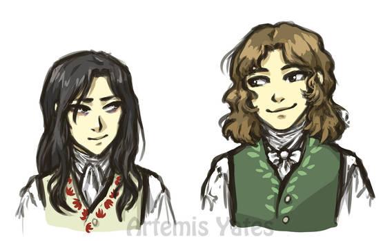 Victor Frankenstein and Henry Clerval