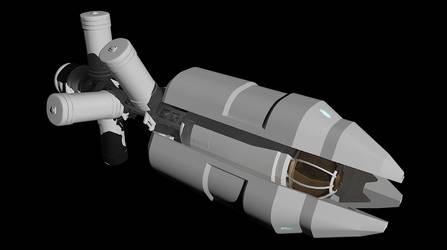 LightBulb Ship MkII - WIP 1 by 9nin