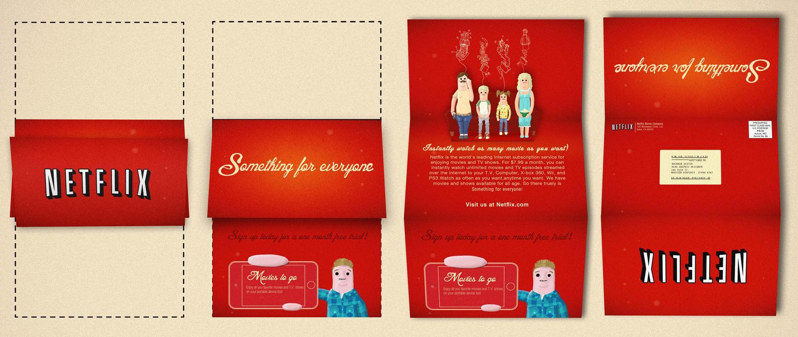 Netflix Print Self Mailer By Adamkoon On Deviantart