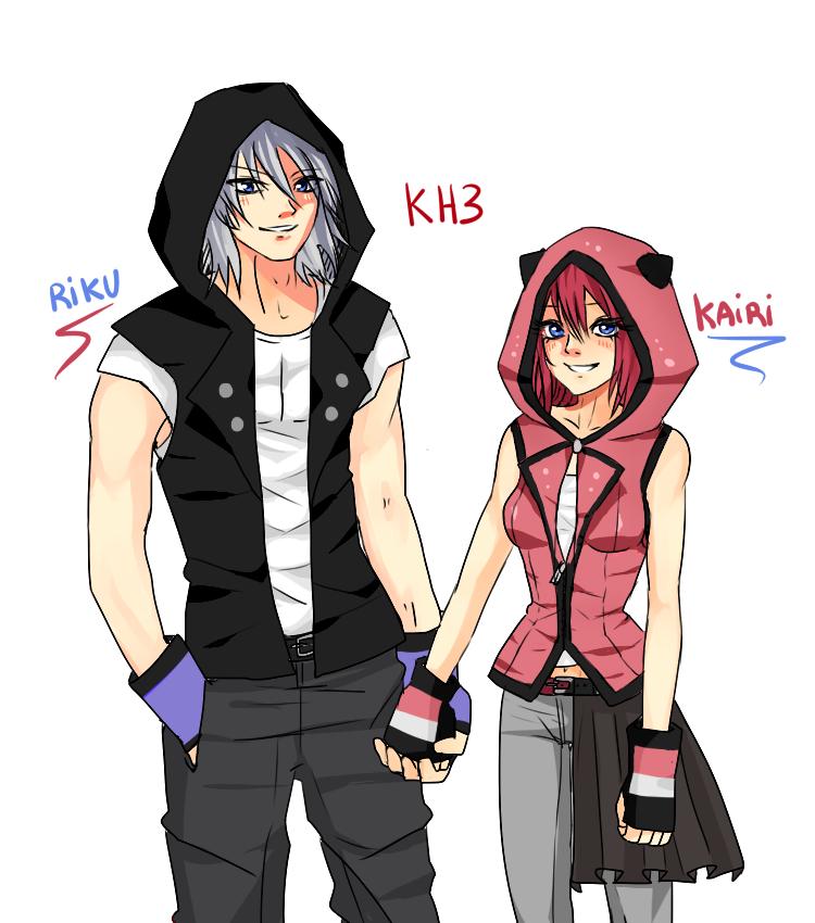 Riku and Kairi KH3 by Noutty on DeviantArt
