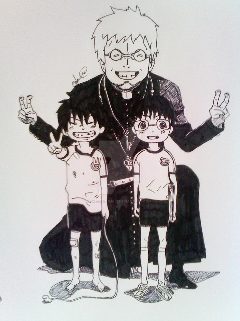 Cheeese! - Shiro, Rin and Yukio. by XetaUzumaki