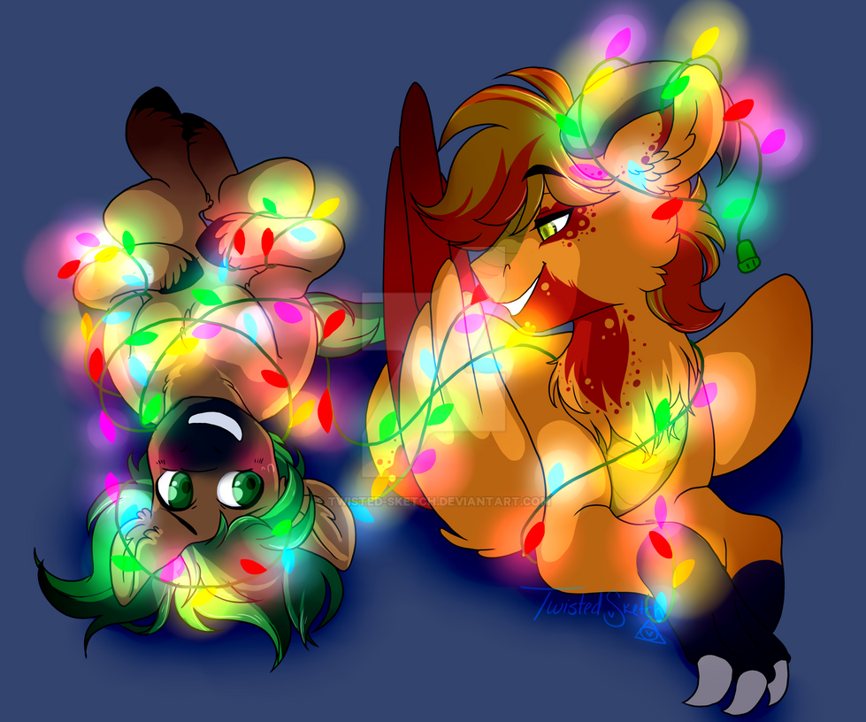 Commission : Christmas Lights by Twisted-Sketch