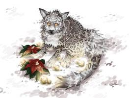 Poinsettia Snow by JaspersAutumn