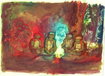 turtle campfire by JaspersAutumn