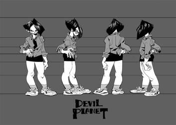 devil planet KangGoon character sheets by kanggoon