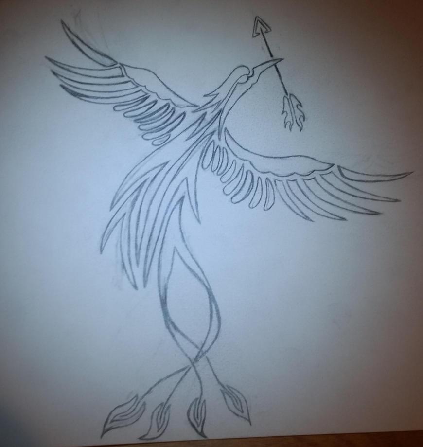 Pheonix Carring the Sacred Arrow by Dragonmyth123