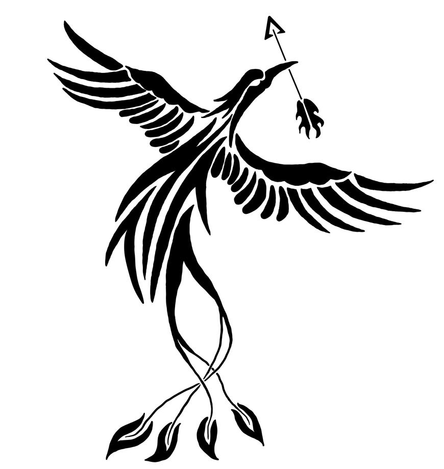 Phoenix With Arrow Digital by Dragonmyth123