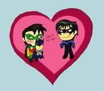 Valentines Day for Tim x Dick by violet-plude