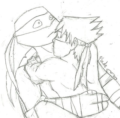 Human Raph/Leo by violet-plude