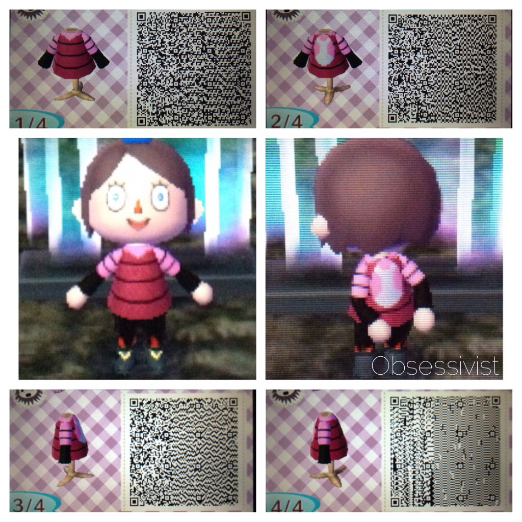 Black dress qr code - Tholiaart 24 0 Animal Crossing New Leaf Irken Outfit Qr Codes By Obsessivist