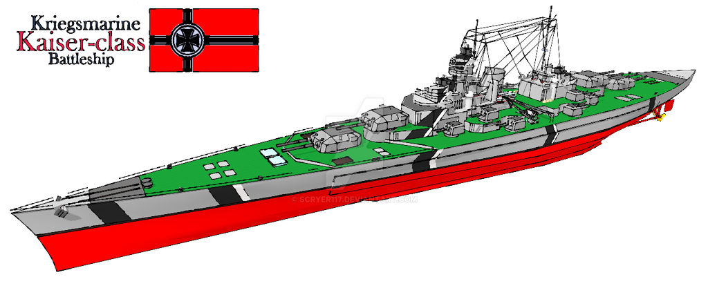 Kriegsmarine Kaiser-class Battleship by Scryer117 on ...