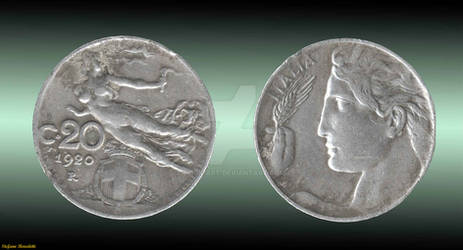 Coin 20 Cents - 1920 (Italy)