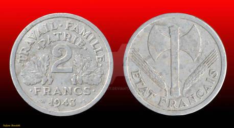 Coin 2 Franc 1943 - (France)