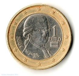 1 EUR - Austria 2009 - Mozart