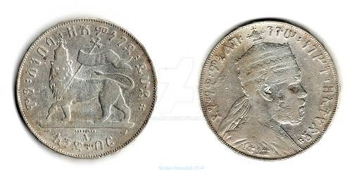 1 Birr - 1887 - Ethiopia - Menelik II
