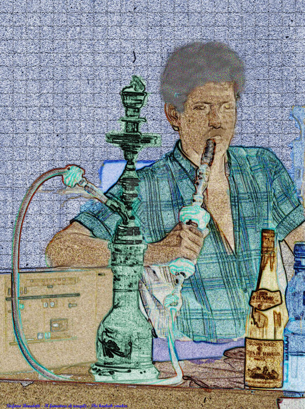 The hookah smoker - Il fumatore di narghil by Book-Art