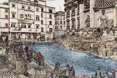 Trevi fountain - Fontana di trevi