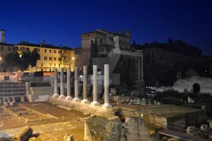 The Roman Forum at night - Il Foro Romano di notte