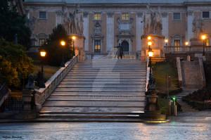The Capitol at night - Il Campidoglio di notte