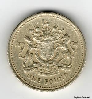 England - 1 Pound of 1993