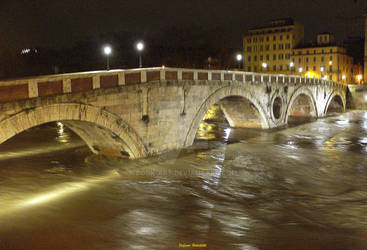 The Tiber River during the flood