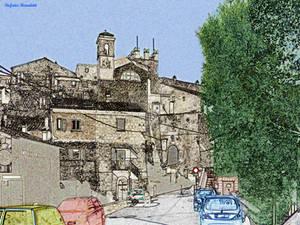 The town of Calcata - Il paese di Calcata
