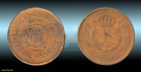 Jordan's coin of 1949 - Moneta  Giordania 1949