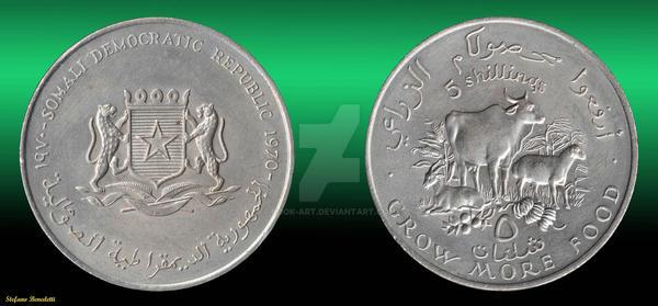 Somalia - Coin of 1970 - Somalia moneta del 1970