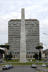 The obelisk in the EUR district in Rome