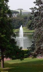 The lake in the EUR neighborhood in Rome (Lazio -