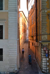 The charm of the alleys of the center of Rome