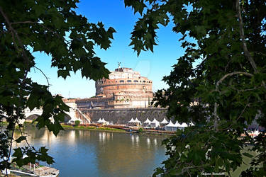 Castle S. Angelo seen from Lungotevere Street