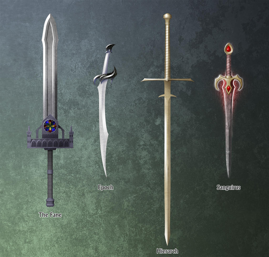 Fantasy Swords A by Milesian27