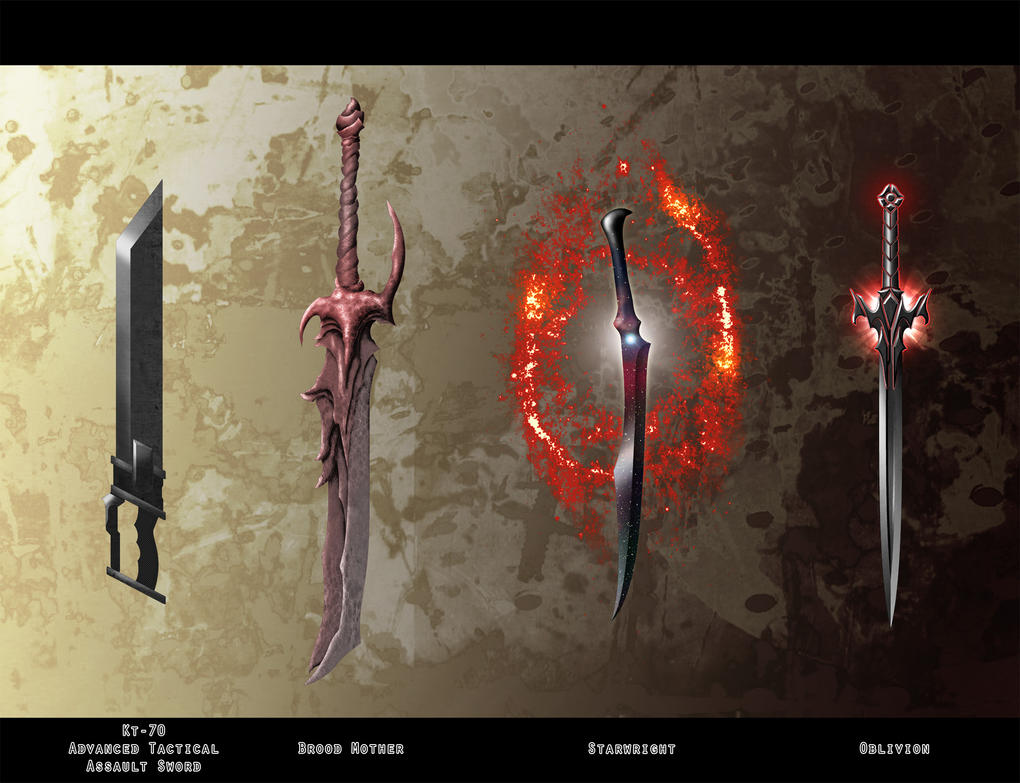 sci fi swords a by milesian27 on deviantart