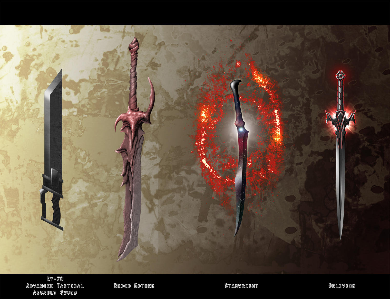 Sci-Fi Swords A by Milesian27