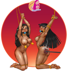 commission: maleia and chasca, gold edition by Girlstrapped