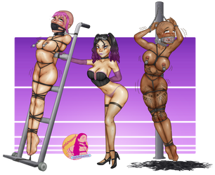 commission: backstage at harley's auction house by girlstrapped