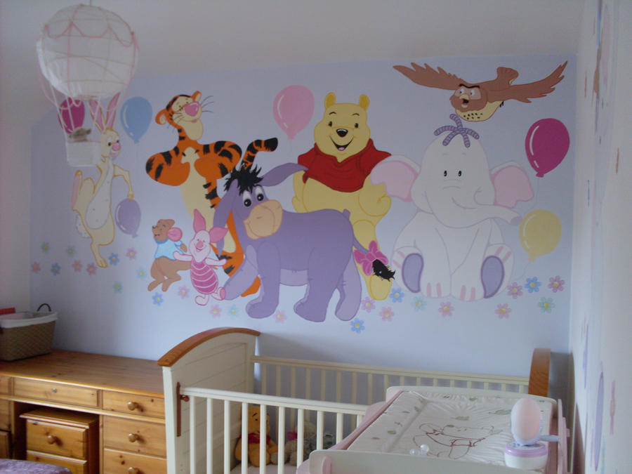Winnie the pooh wallpaper murals wallpaper sportstle for Classic pooh wall mural
