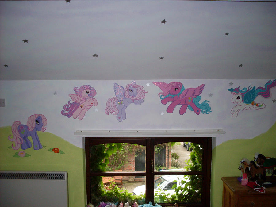 my little pony mural by dolls edd on deviantart. Black Bedroom Furniture Sets. Home Design Ideas