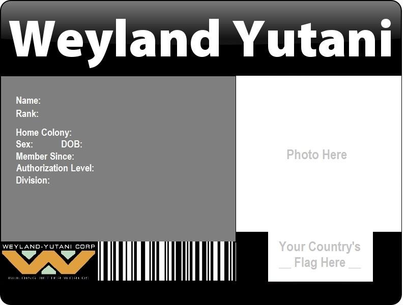 Weyland-Yutani ID Template by catsfriend12